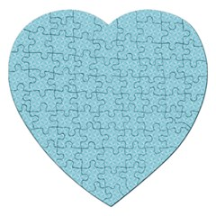 Blue Pattern Background Texture Jigsaw Puzzle (heart)
