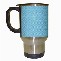 Blue Pattern Background Texture Travel Mugs (white)
