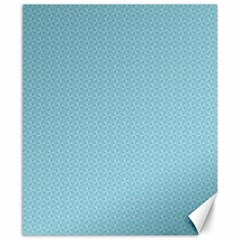 Blue Pattern Background Texture Canvas 8  X 10