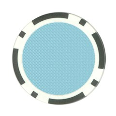 Blue Pattern Background Texture Poker Chip Card Guard