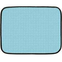 Blue Pattern Background Texture Double Sided Fleece Blanket (mini)