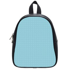 Blue Pattern Background Texture School Bag (small) by Nexatart