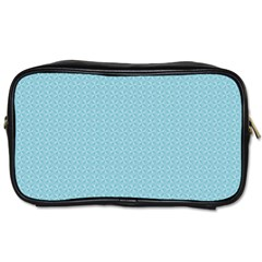 Blue Pattern Background Texture Toiletries Bags