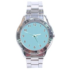 Blue Pattern Background Texture Stainless Steel Analogue Watch