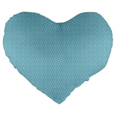 Blue Pattern Background Texture Large 19  Premium Heart Shape Cushions