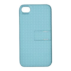 Blue Pattern Background Texture Apple Iphone 4/4s Hardshell Case With Stand