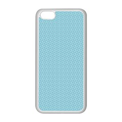 Blue Pattern Background Texture Apple Iphone 5c Seamless Case (white)