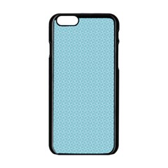 Blue Pattern Background Texture Apple Iphone 6/6s Black Enamel Case