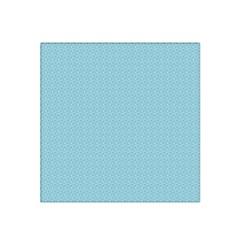 Blue Pattern Background Texture Satin Bandana Scarf