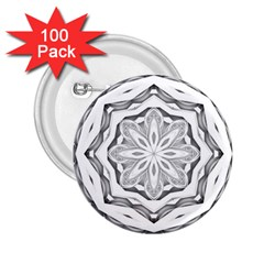 Mandala Pattern Floral 2 25  Buttons (100 Pack)