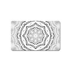 Mandala Pattern Floral Magnet (name Card) by Nexatart