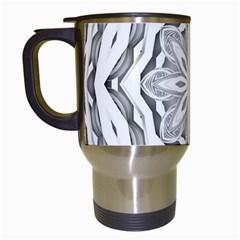 Mandala Pattern Floral Travel Mugs (white)