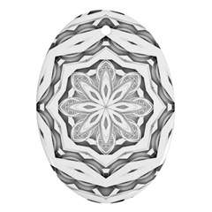 Mandala Pattern Floral Oval Ornament (two Sides) by Nexatart