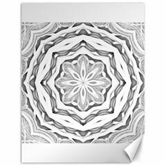 Mandala Pattern Floral Canvas 12  X 16