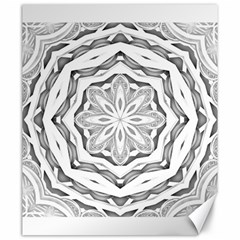 Mandala Pattern Floral Canvas 20  X 24