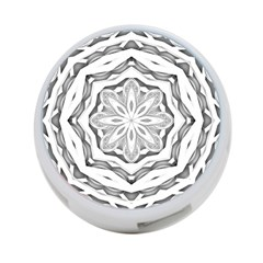 Mandala Pattern Floral 4 Port Usb Hub (two Sides)  by Nexatart