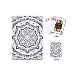 Mandala Pattern Floral Playing Cards (mini)