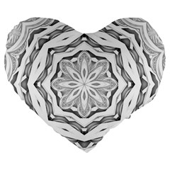 Mandala Pattern Floral Large 19  Premium Heart Shape Cushions by Nexatart