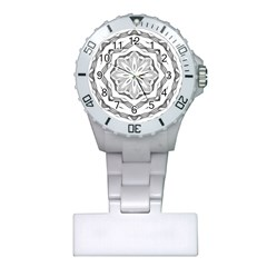 Mandala Pattern Floral Plastic Nurses Watch