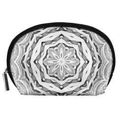 Mandala Pattern Floral Accessory Pouches (large)