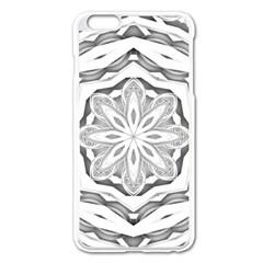 Mandala Pattern Floral Apple Iphone 6 Plus/6s Plus Enamel White Case