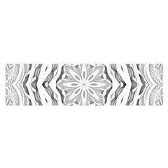 Mandala Pattern Floral Satin Scarf (oblong)