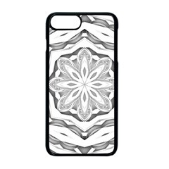 Mandala Pattern Floral Apple Iphone 7 Plus Seamless Case (black)