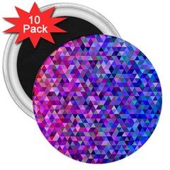 Triangle Tile Mosaic Pattern 3  Magnets (10 Pack)  by Nexatart