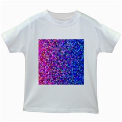 Triangle Tile Mosaic Pattern Kids White T Shirts
