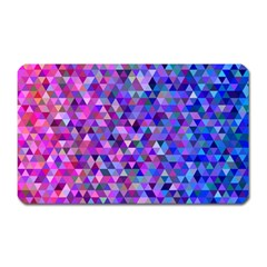 Triangle Tile Mosaic Pattern Magnet (rectangular) by Nexatart