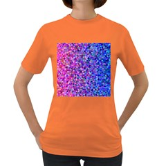 Triangle Tile Mosaic Pattern Women s Dark T Shirt
