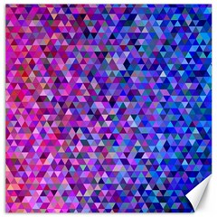 Triangle Tile Mosaic Pattern Canvas 16  X 16