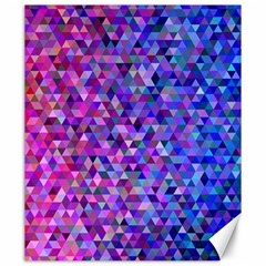 Triangle Tile Mosaic Pattern Canvas 20  X 24   by Nexatart