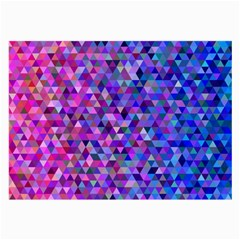 Triangle Tile Mosaic Pattern Large Glasses Cloth (2 Side) by Nexatart