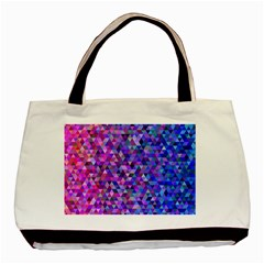 Triangle Tile Mosaic Pattern Basic Tote Bag (two Sides)