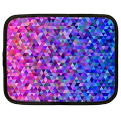Triangle Tile Mosaic Pattern Netbook Case (xxl)  by Nexatart
