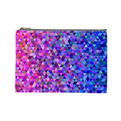 Triangle Tile Mosaic Pattern Cosmetic Bag (large)