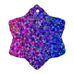 Triangle Tile Mosaic Pattern Snowflake Ornament (two Sides)