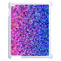 Triangle Tile Mosaic Pattern Apple Ipad 2 Case (white) by Nexatart
