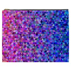 Triangle Tile Mosaic Pattern Cosmetic Bag (xxxl)  by Nexatart