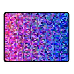 Triangle Tile Mosaic Pattern Double Sided Fleece Blanket (small)