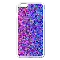 Triangle Tile Mosaic Pattern Apple Iphone 6 Plus/6s Plus Enamel White Case by Nexatart