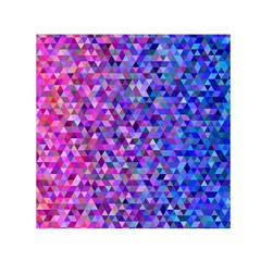 Triangle Tile Mosaic Pattern Small Satin Scarf (square) by Nexatart