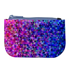 Triangle Tile Mosaic Pattern Large Coin Purse
