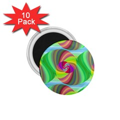 Seamless Pattern Twirl Spiral 1 75  Magnets (10 Pack)