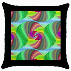 Seamless Pattern Twirl Spiral Throw Pillow Case (black) by Nexatart
