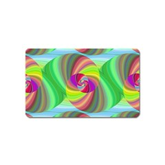 Seamless Pattern Twirl Spiral Magnet (name Card)