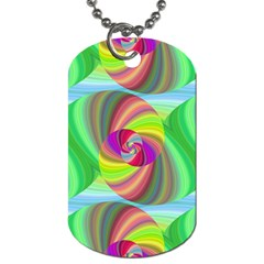 Seamless Pattern Twirl Spiral Dog Tag (one Side) by Nexatart
