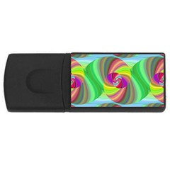 Seamless Pattern Twirl Spiral Rectangular Usb Flash Drive