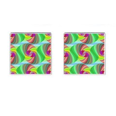 Seamless Pattern Twirl Spiral Cufflinks (square)